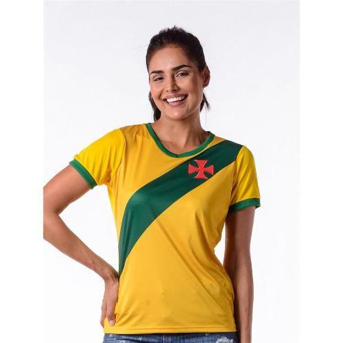 Camisa Feminina Vasco Brasil Hexa
