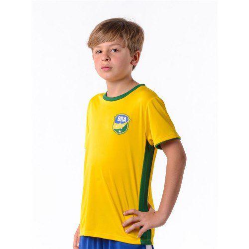 Camisa Brasil Gravataí Infantil N° 10 Copa Hexa
