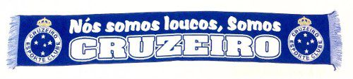Cachecol Oficial Licenciado - Somos Loucos Somos Cruzeiro