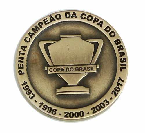 Moeda Comemorativa Cruzeiro Penta Copa Do Brasil 2017
