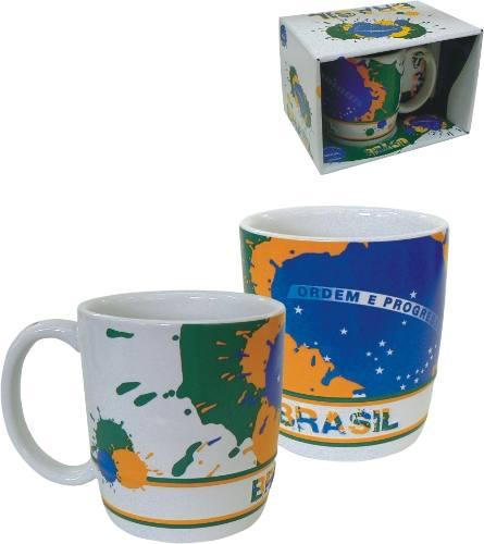 Caneca De Cerâmica 350 Ml - Brasil