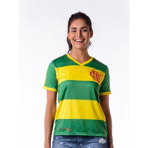Camisa Feminina Flamengo Brasil Hexa