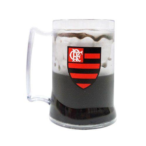 Caneca Gel Preto Flamengo