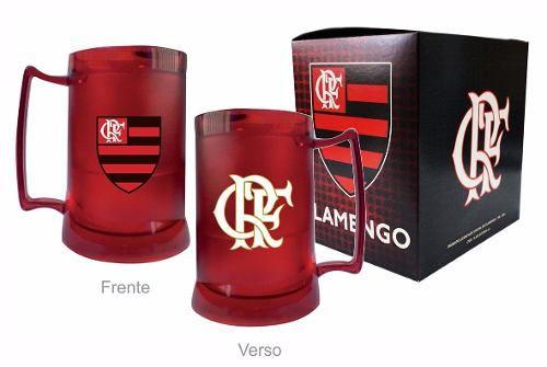 Caneca Chopp Gel Toda Vermelha Escudo E Crf - Flamengo