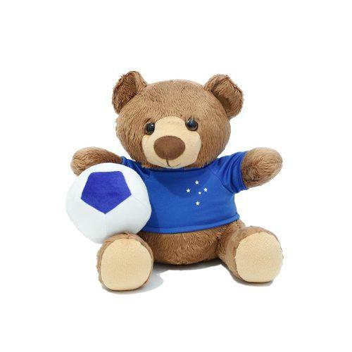 Urso Pelúcia Com Bola Cruzeiro