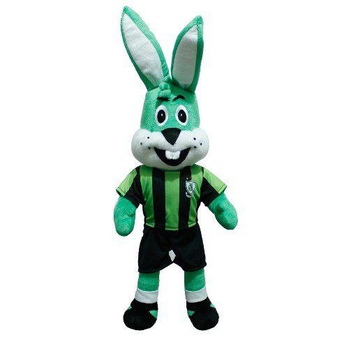Mascote Coelho Pelúcia América Mineiro Oficial