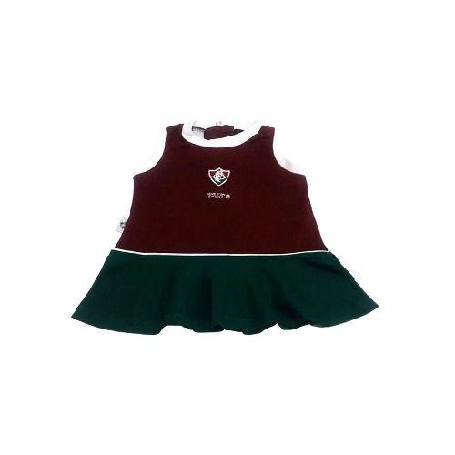 Vestido Bebê Fluminense Regata Oficial