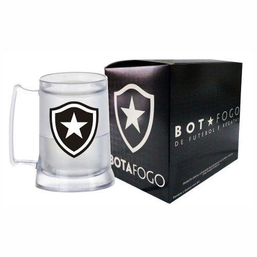 Caneca Chopp Gel Incolor - Botafogo