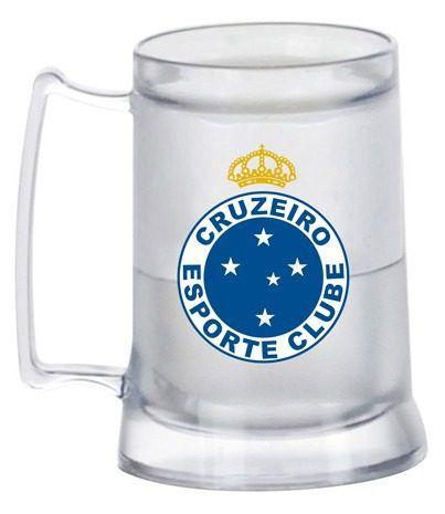 Caneca Chopp Gel - Transparente - Cruzeiro
