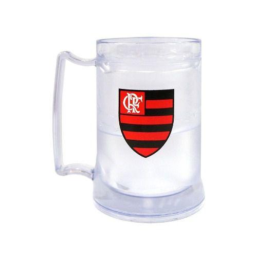 Caneca Gel Flamengo Incolor