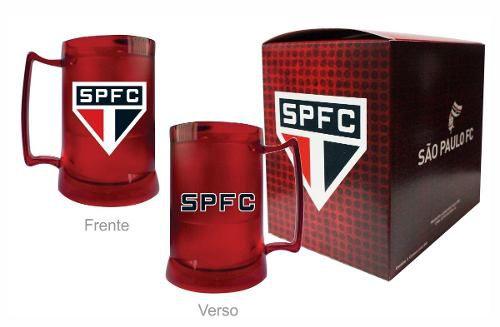 Caneca Chopp Gel Toda Vermelha - São Paulo