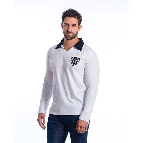 Camisa Retro Atlético Mineiro Manga Longa Polo Oficial