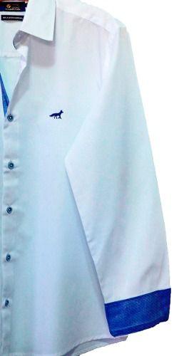 Camisa Social Slim Masculina Cruzeiro - Oficial