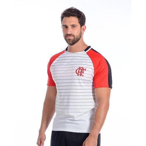 Camisa Flamengo Masculina Dry Raglan Branca
