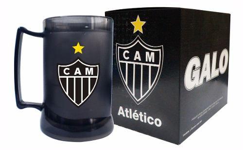 Caneca Chopp Gel Fume - Atlético Mineiro - Toda Preta