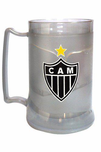 Caneca Chopp Gel Prata - Atlético