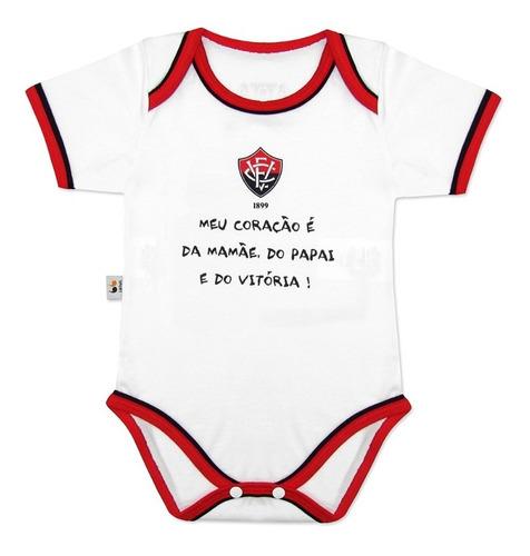 Body Infantil Vitória Meu Coração É Da Mamãe Do Papai e do Vitória