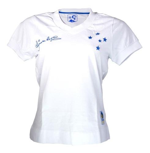 Camisa Feminina Branca Retro Dirceu Lopes Cruzeiro