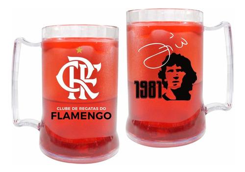 Caneca Gel 1981 Mundial Flamengo Zico