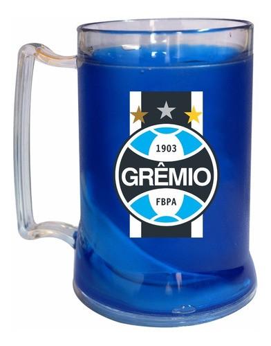 Caneca Gel Azul Escudo Faixa Grêmio
