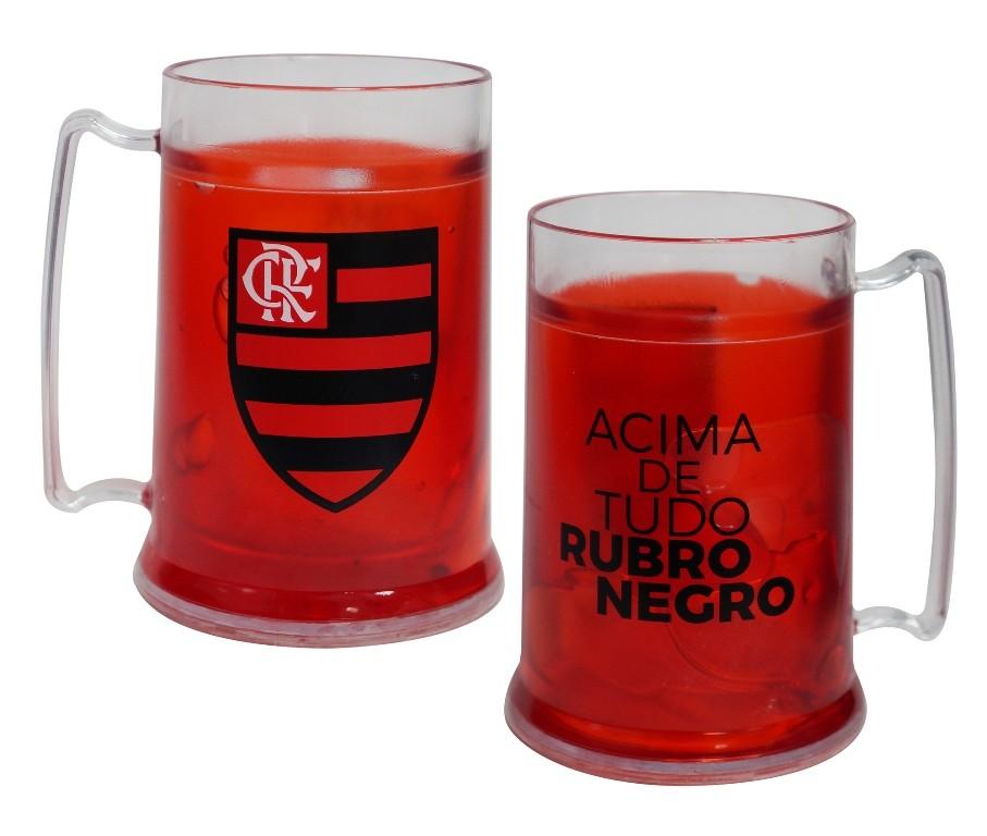 Caneca Gel Flamengo Acima De Tudo Rubro Negro