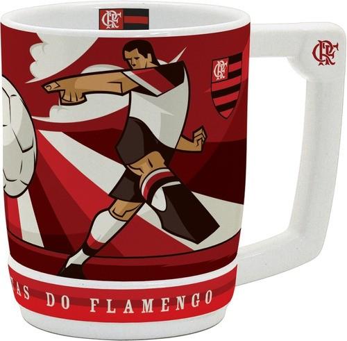 Caneco Cerâmica 600 Ml Flamengo