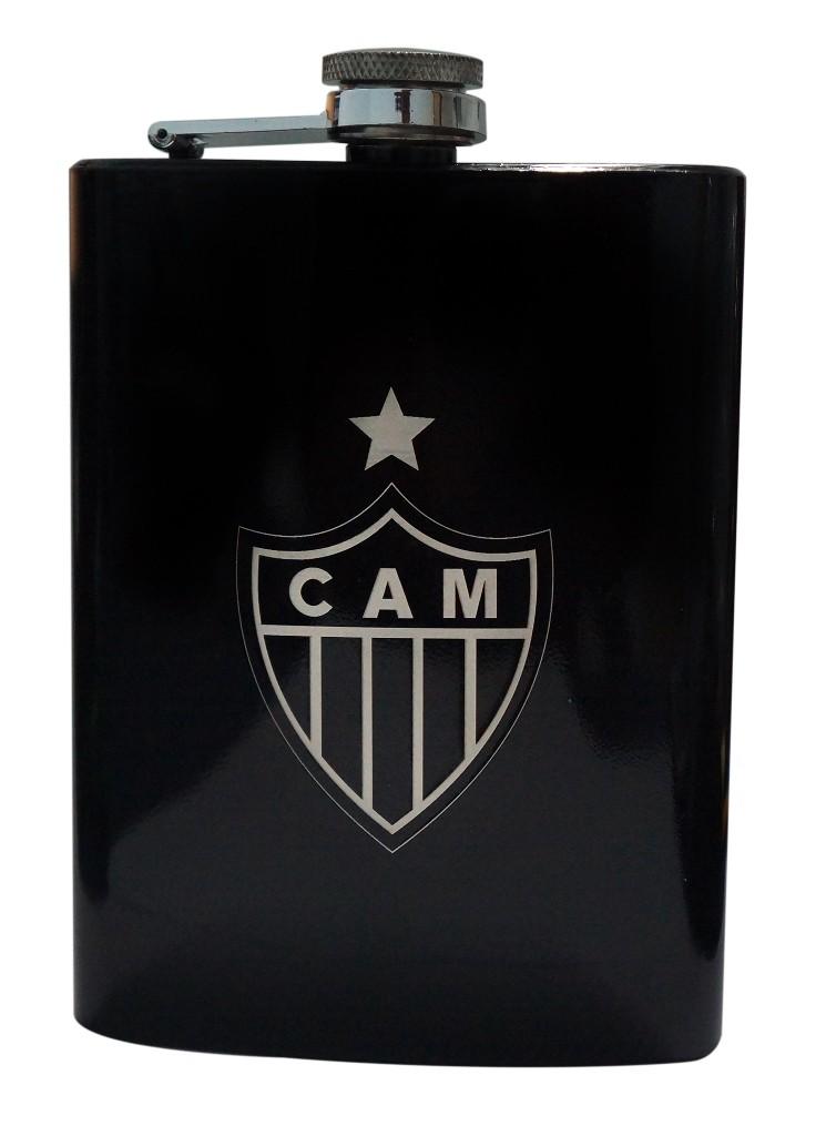 Cantil Metal 220 Ml Escudo Atlético Mineiro