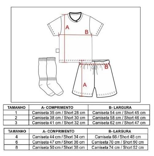 Conjunto Infantil Artilheiro Flamengo