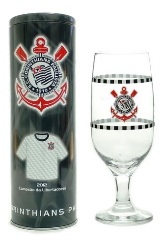 Copo Chopp Cerveja 300 Ml Com Lata Cofre Corinthians
