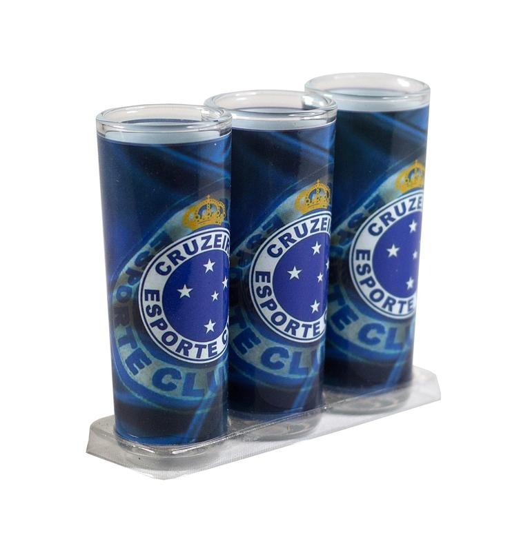 Kit 3 Copos Dose De Vidro Cruzeiro