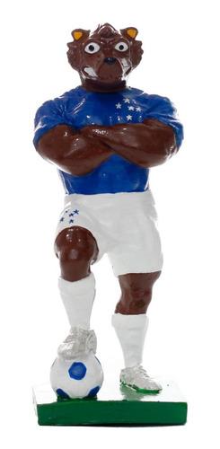 Mascote Raposão Cruzeiro - Gesso 10 Cm