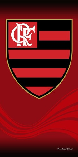Toalha De Banho Veludo Flamengo Escudo
