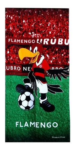 Toalha De Banho Veludo Urubu Flamengo