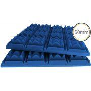 Espuma acústica Linha Difusor C - Kit 4 peças - Colorida Pigmentada - (1m²)