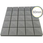 Espuma acústica Linha Difusor - Q3 - Kit 4 peças - (1m²)