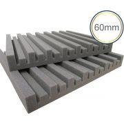 Espuma acústica Linha Difusor - R - Kit 4 peças - (1m²)