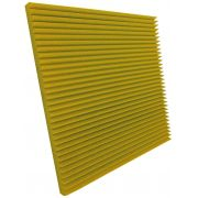 Espuma acústica Linha REV - W - Amarelo - Kit 4 peças (1m²)