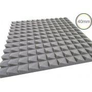 Espuma acústica Linha Revest - Escamas - Kit 4 peças - Cinza - (1m²)