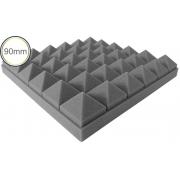 Espuma Acústica - Max T - Cinza - Kit 4 peças (1m²) 90mm