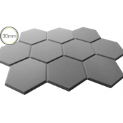 Espuma Acústica - REV Geometric- Hexagonal Cinza- Kit 5 peças - (1m²)