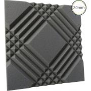 Espuma Acústica - REV Mosaico - 30mm Cinza - Kit 4 peças (1m²) 30mm