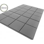 Espuma Acústica - REV - Quad 3D Cinza- Kit 4 peças (1m²) 30mm