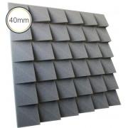 Espuma acústica Revest - Escamas 2 - Kit 4 peças - Cinza - (1m²)