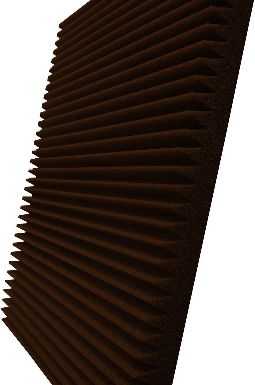 Espuma acústica REV - W - Marrom - Kit 4 peças (1m²) - 30mm  - Loja SPL Acústica