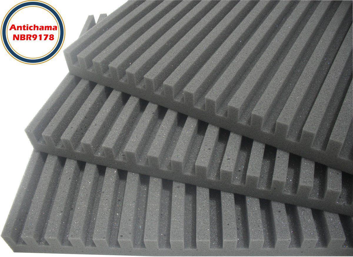 Espuma Acústica Antichama Linha Rev R - Kit 16 peças (4m²)  - Loja SPL Acústica