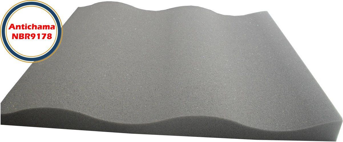 Espuma Acústica Antichama Linha Rev SS - Kit 16 peças (4m²)  - Loja SPL Acústica