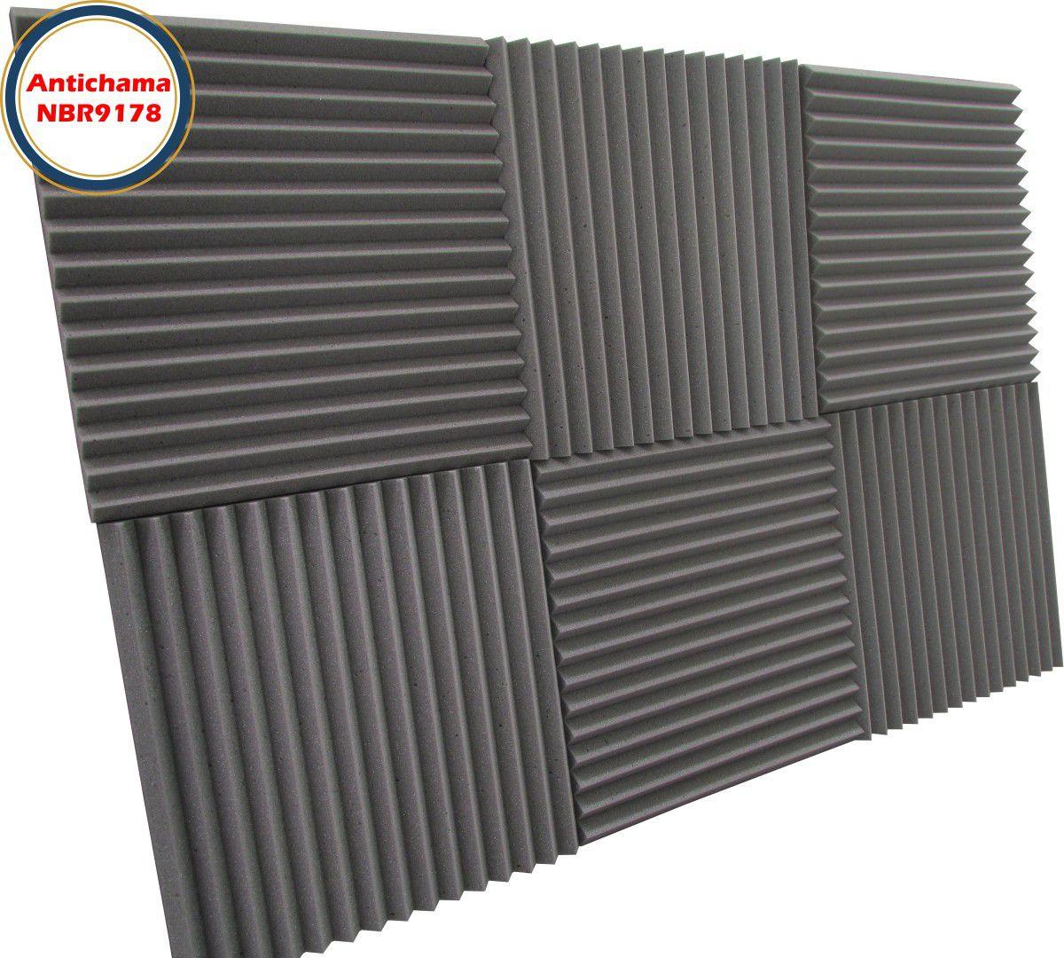 Espuma Acústica Antichama Linha Rev W2 - Kit 16 peças (4m²)  - Loja SPL Acústica