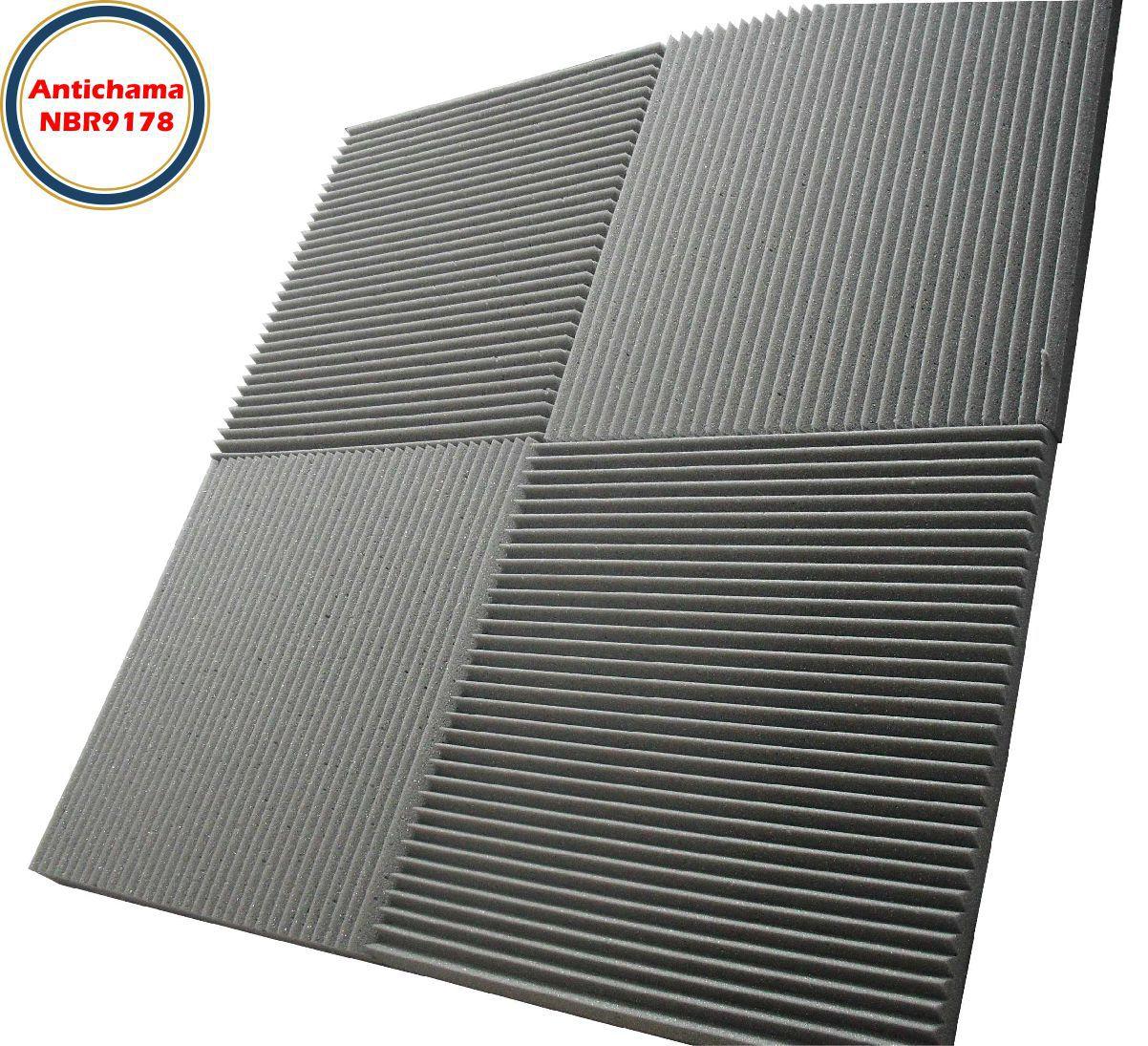 Espuma Acústica Antichama Linha Rev W - Kit 16 peças (4m²)  - Loja SPL Acústica