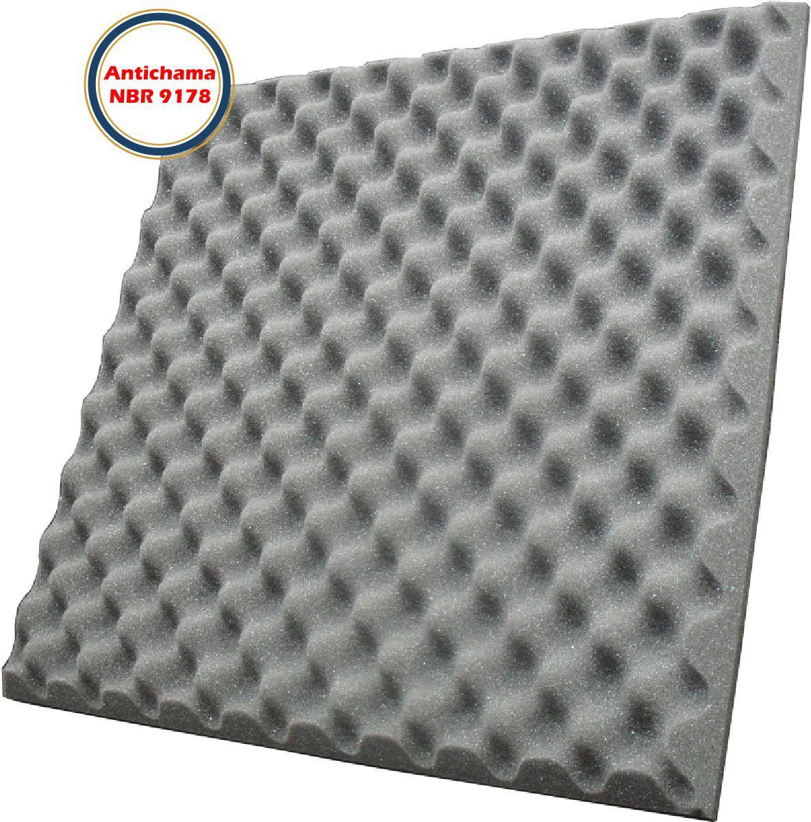 Espuma Acústica Antichama Perfilada-Kit 16 peças-40mm-(4m²)  - Loja SPL Acústica