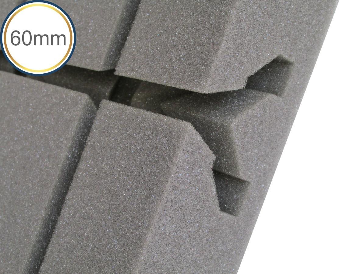 Espuma acústica Difusor - Q4 - Kit 4 peças - (1m²)  - Loja SPL Acústica